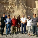 Chinese tourists in Naqsh-e Rustam