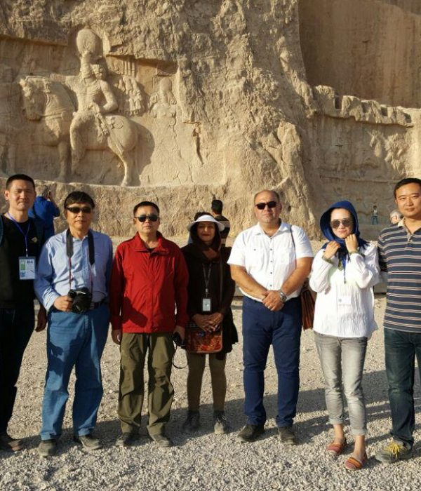 Chinese tourists in Naqsh-e Rustam