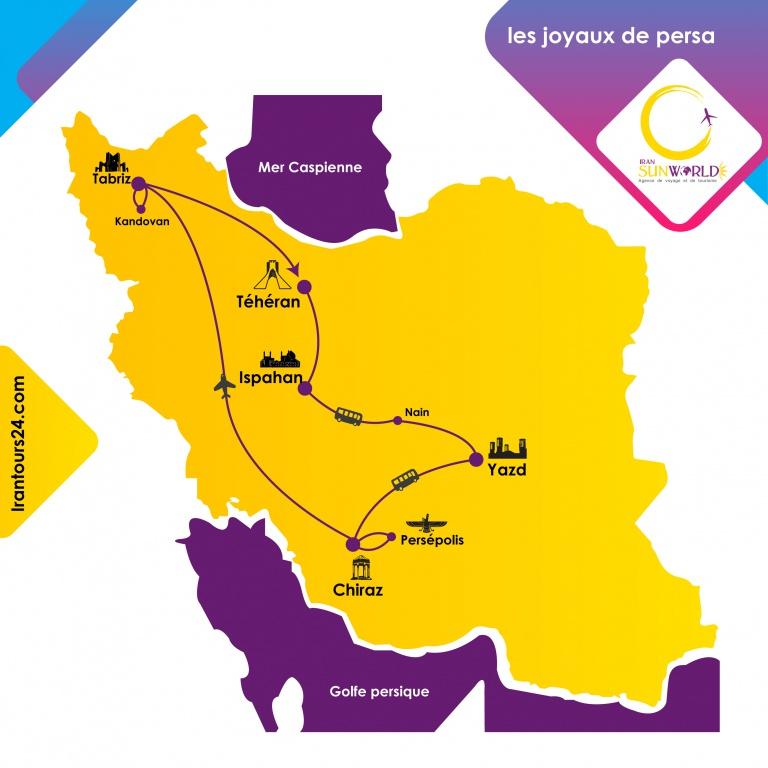 carte pour circuits en Iran