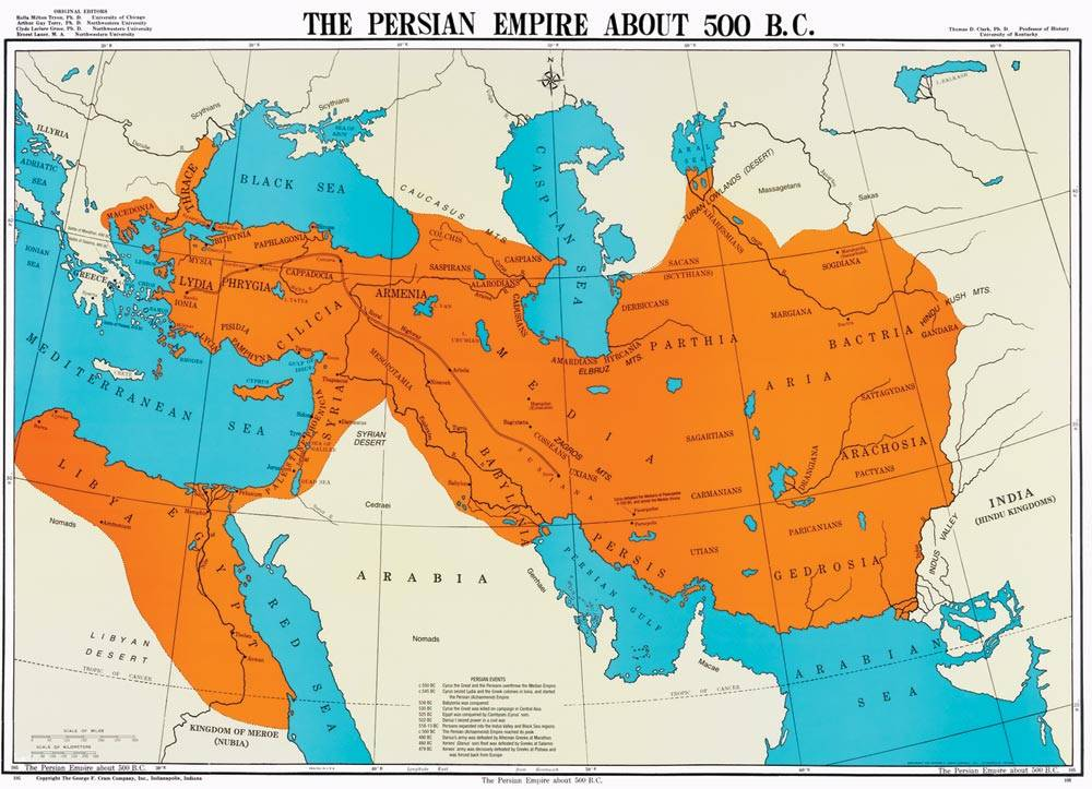 Persian Empire-world map-Persian Empire-500 BC-history map