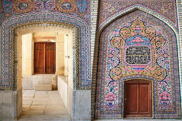 tiling of nasir almolk mosque in Shiraz