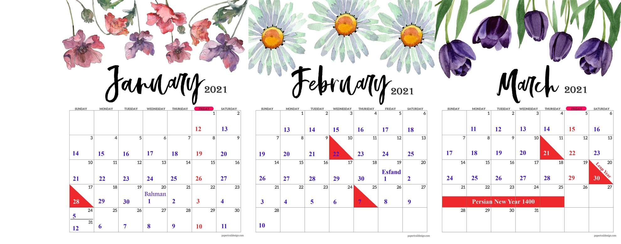 Persian Calendar, a Solar Hijri Calendar  Julian dates and Persian